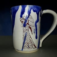 Doctor who mug tardis weeping angel dr. who