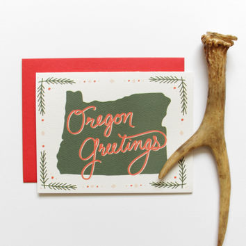 Oregon Greetings Holiday Card