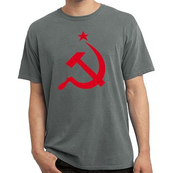 Buy Cool Shirts Red Hammer and Sickle Pigment Dyed Shirt