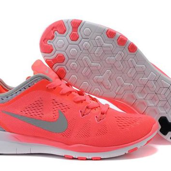 Women's Nike Free TR FIT 5 Training Shoes Melon/Gray