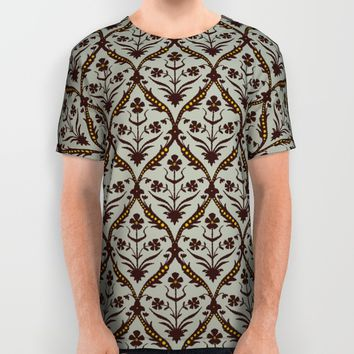 Praval trellis ikat All Over Print Shirt by Sharon Turner
