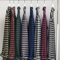 Essential Stripe High Neck Layered Tee