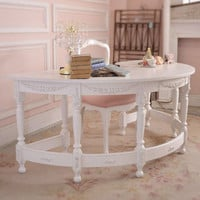 8429 - Stunning Chic Arched White Office Desk - $995 - The Bella Cottage