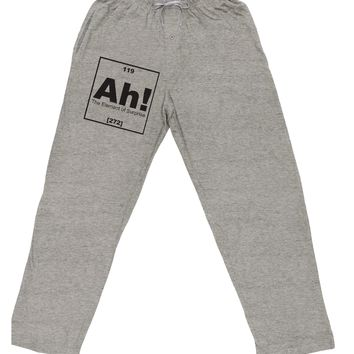 Ah the Element of Surprise Funny Science Adult Loose Fit Lounge Pants by TooLoud