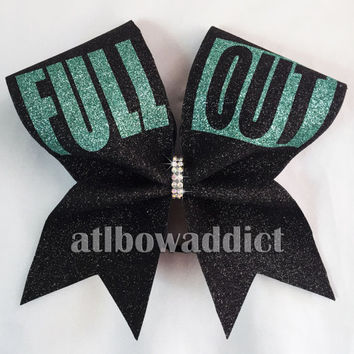 Full Out Glitter Cheer Bow - PICK YOUR COLORS!