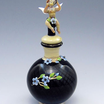 Cupid by Chris Pantos: Art Glass Perfume Bottle | Artful Home