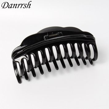 13CM Large Hair Claws Simple Strong Crab Hair Clips Clamp Black And Brown Bathing Hairpin Hair Accessory for Women