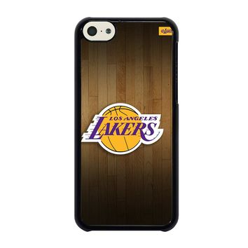 LA LAKERS BASKETBALL WOODEN iPhone 5C Case