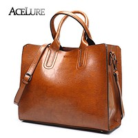 Women Leather Handbags Casual Bags Trunk Tote Shoulder Bag