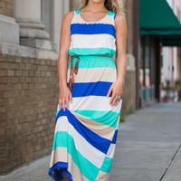 Beachy Keen Maxi Dress, Blue-Mint