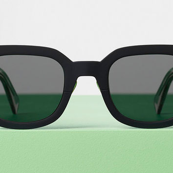 Celine - Ed Black Titanium and Acetate Sunglasses, Grey Blue Lenses