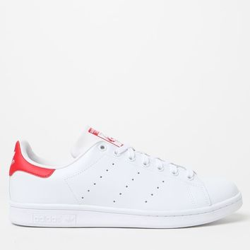 adidas Stan Smith White and Red Shoes at PacSun.com