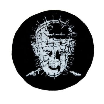 ac spbest Hellraiser Pinhead Patch Iron on Applique Occult Clothing Horror Movie Clive Barker