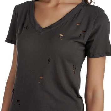 Charcoal Destructed Tee