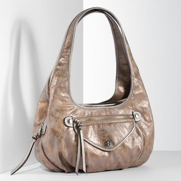 Simply Vera Vera Wang Metallic Sidekick Satchel (Grey)