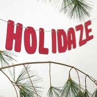 Happy Holidaze Party Banner- Silver One