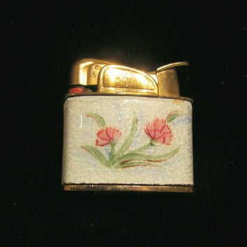 Vintage Lighter Guilloche Lighter Evans Ladies Lighter Art Deco Womens Lighter Pocket Lighter Working Lighter