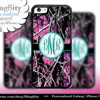Camo Turquoise Monogram iPhone 5C 6 Plus Case iPhone 5s 4 case Ipod muddy Realtree Personalized Cover Country Inspired Girl