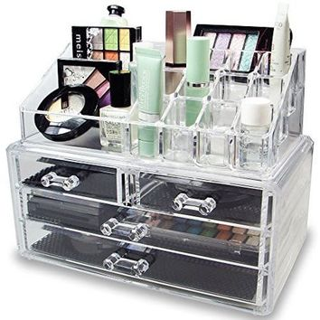 Clear Acrylic Cosmetic Organizer 4 Drawers Makeup Case Storage Holder Box Makeup Sundry Holder Display Stand Organizer - Walmart.com