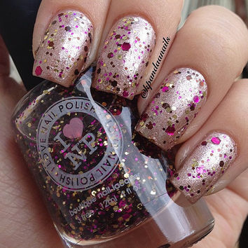 Her Highness - Fuschia, Brown, Gold Glitter Nail Polish