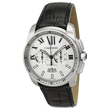 Cartier Calibre de Cartier Mens Chronograph Automatic Watch W7100046