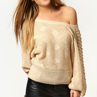 Daisy Lace Up Shoulder Oversized Jumper