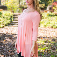 Sometime Swoon Tunic, Pink
