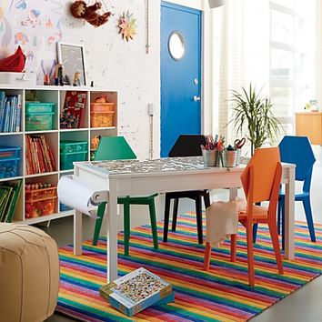 Rainbow Stripe 8 x 10' Rug