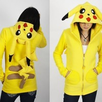 custom EROSDIY POKEMON HOODIE polar fleece PIKACHU | erosdiy - Clothing on ArtFire