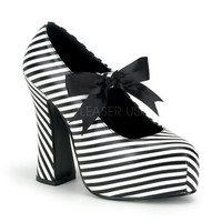Demonia Demon Striped Shoes :: VampireFreaks Store :: Gothic Clothing, Cyber-goth, punk, metal, alternative, rave, freak fashions