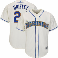 Seattle Mariners Ken Griffey Jr. #24 Home Throwback Jersey