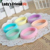 LMFUS4 24pcs/lot Mix Colors Elastic Hair Rubber Bands Rope Baby Girl Kids Ponytail Holder Hair Accessories Women Scrunchy Hair Ties Gum