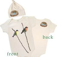 Ornithologists choose this organic baby set as their favorite gift- Polkadot Patch Boutique