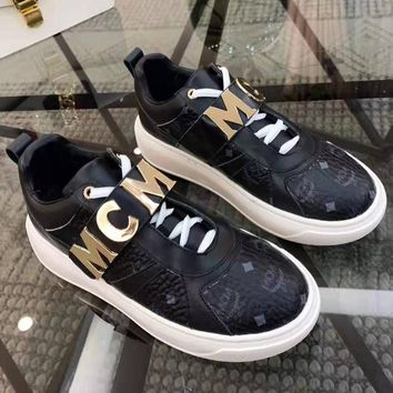 MCM High Quality Popular Women Casual Leather Sneakers Sport Shoes