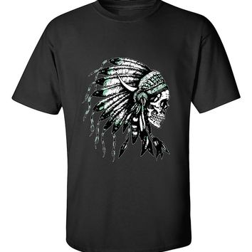 Indian Skull Headdress Native Americans T-Shirt