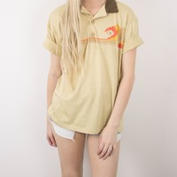 Vintage 70s Ocean Pacific Sunwear Polo T Shirt