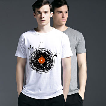 Stylish Fashion Round-neck Casual Summer Creative Short Sleeve Slim Strong Character Tee Cotton T-shirts = 6450094851