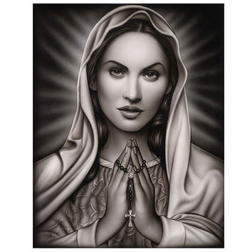 Black Market Art Company Praying Mary by Artist Spider