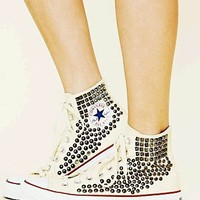 Free People Joey Studded White Converse