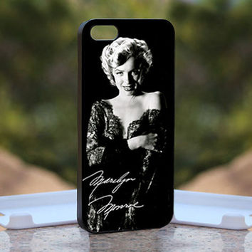 Vintage Black And White Sexy Marilyn Monroe - Design available for iPhone 4 / 4S and iPhone 5 Case - black, white and clear cases