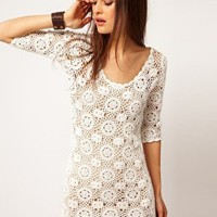 Minkpink | Minkpink 'Little White Lie' Crochet Dress at ASOS