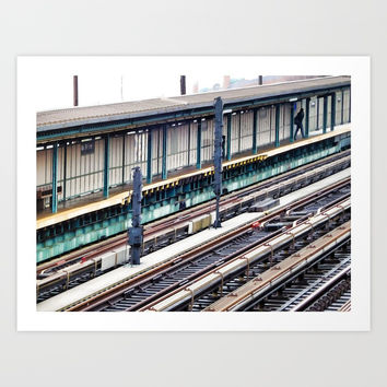 Train platform at Bay 50 street Art Print by lanjee
