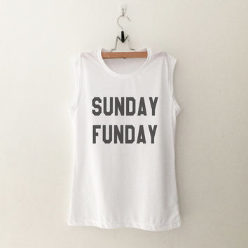 Sunday Funday T-Shirt womens gifts womens girls tumblr hipster band merch fangirls teens girl gift girlfriends present blogger
