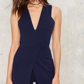 Got It Covered Plunging Romper