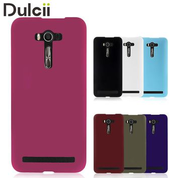 "DULCII Fitted Case for Asus Zenfone 2 Laser ZE550KL Case 5.5"" Rubberized Hard Plastic Mobile Phone Cover Shells Capas"