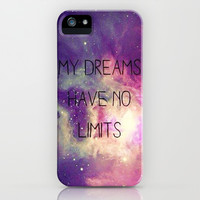 My Dreams Have No Limits iPhone & iPod Case by Pink Berry Pattern