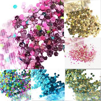 12 Colors Holo Glitter Festival 50g/ Unicorn Festival Face Chunky Glitter Party Make Up Cosmetic Glitters Body Carnival Decora