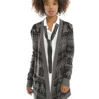 Doctor Who Black & Grey Girls Flyaway Cardigan