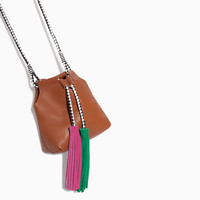 MINI FANTASY LEATHER BUCKET BAG