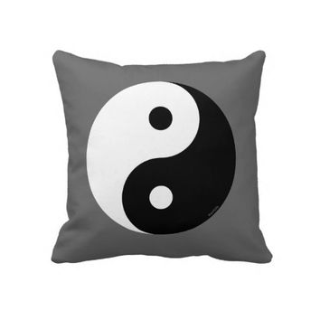 Black White Yin-Yang Custom Pillow